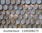 weathered wooden shingles | Shutterstock . vector #1100208275