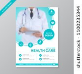 health care cover template... | Shutterstock .eps vector #1100235344