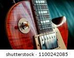 classic look of electric guitar ...   Shutterstock . vector #1100242085