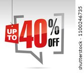sale up to 40 percent off... | Shutterstock .eps vector #1100246735