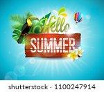 vector hello summer holiday... | Shutterstock .eps vector #1100247914