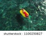 summer lifestyle portrait of...   Shutterstock . vector #1100250827