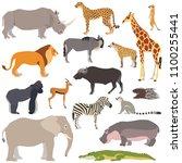 vector illustration of cute... | Shutterstock .eps vector #1100255441