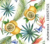 watercolor seamless pattern of... | Shutterstock . vector #1100257121
