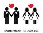 gay marriage icons set | Shutterstock .eps vector #110026151