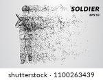 soldiers wind breaks particles. ... | Shutterstock .eps vector #1100263439