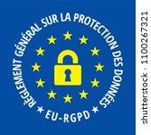 eu rgpd sign illustration | Shutterstock .eps vector #1100267321