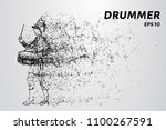 drummer of the particles.... | Shutterstock .eps vector #1100267591