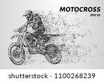 motocross particles. motocross... | Shutterstock .eps vector #1100268239