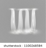 waterfall  isolated on...   Shutterstock .eps vector #1100268584