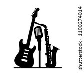 music jazz band icon. group of... | Shutterstock .eps vector #1100274014