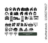 house icons templates | Shutterstock .eps vector #1100274017