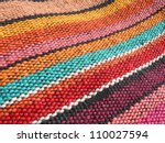 Colorful African  Peruvian Rug...