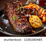 spicy marinated barbecued... | Shutterstock . vector #1100280485