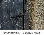 Old And Worn Painted Wooden...