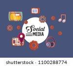 social media design | Shutterstock .eps vector #1100288774