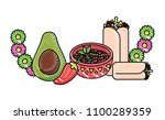 mexican food design | Shutterstock .eps vector #1100289359