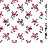 flowers seamless pattern vector ... | Shutterstock .eps vector #1100289509