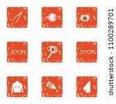 surgical room icons set. grunge ... | Shutterstock .eps vector #1100289701