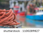 Selective Focus Orange Rope On...