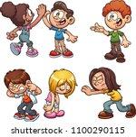 cartoon kids performing...