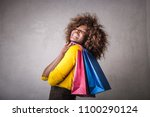 passion for shopping  | Shutterstock . vector #1100290124