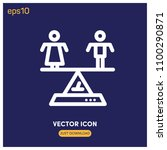 balance symbol vector icon...