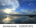 beautiful sky on twilight time... | Shutterstock . vector #1100291591