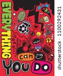 everything you can do ... | Shutterstock .eps vector #1100292431