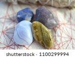 assortment of beautiful healing ... | Shutterstock . vector #1100299994