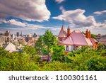 kobe  japan skyline from the... | Shutterstock . vector #1100301161
