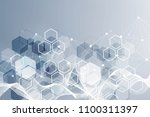 hexagonal abstract background.... | Shutterstock .eps vector #1100311397
