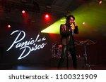 new york dec 10  brendon urie... | Shutterstock . vector #1100321909
