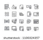 editable simple line stroke...   Shutterstock .eps vector #1100324357