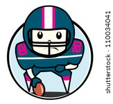 american football player | Shutterstock .eps vector #110034041