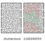 illustration with labyrinth ... | Shutterstock .eps vector #1100340554