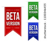 beta version banner design set... | Shutterstock .eps vector #1100346455