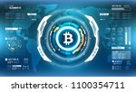 bitcoin cryprocurrency... | Shutterstock .eps vector #1100354711