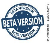 beta version grunge rubber... | Shutterstock .eps vector #1100356949