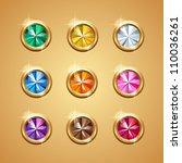 gemstone vector set | Shutterstock .eps vector #110036261