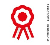 badge with ribbons  rosette ... | Shutterstock .eps vector #1100364551