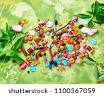 beads  colorful beads for... | Shutterstock . vector #1100367059