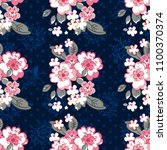 seamless floral pattern with... | Shutterstock .eps vector #1100370374