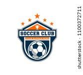 soccer badge logo vector art | Shutterstock .eps vector #1100372711