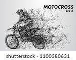 motocross particles. motocross... | Shutterstock .eps vector #1100380631