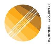 cricket ball icon. flat color...