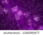 geometric purple polygonal... | Shutterstock .eps vector #1100390477
