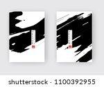 black ink brush stroke on white ...   Shutterstock .eps vector #1100392955