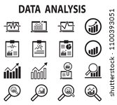 analysis chart data growth... | Shutterstock .eps vector #1100393051