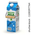 milk can package concept with... | Shutterstock . vector #1100397764